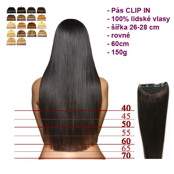 Pás CLIP IN extra hustý - rovné 60cm a8b8f797333